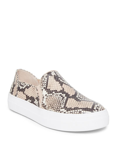 ginger snake-print slip-on sneakers
