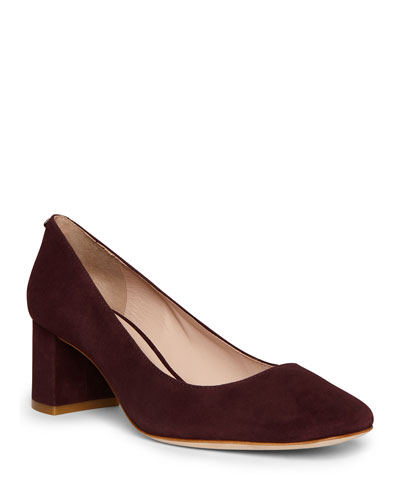 kylah suede block-heel pumps
