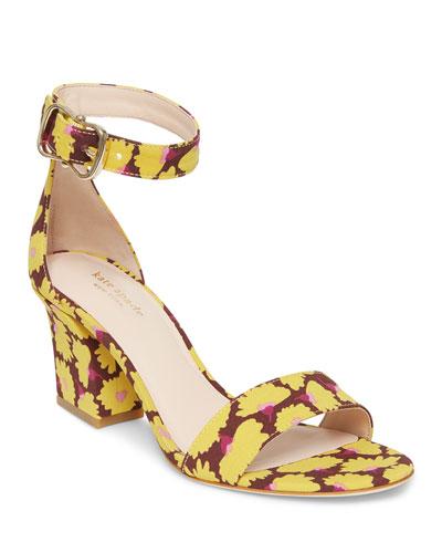 susane floral-print city sandals