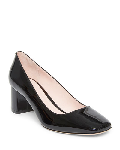 kylah mid-heel patent pumps
