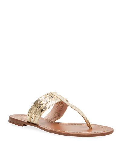 carol metallic studded sandals