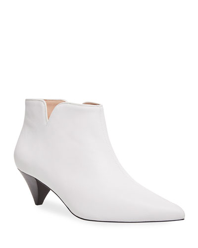 raelyn leather ankle booties