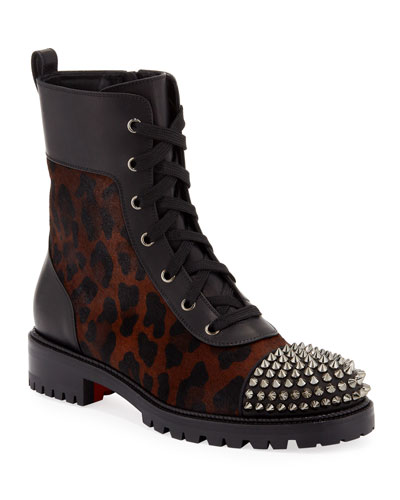 TS Croc Leopard Boots