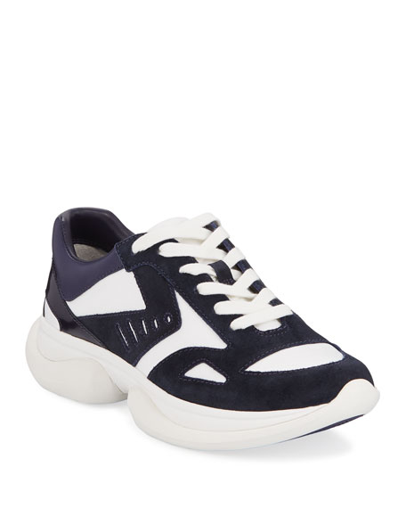 Tory Sport Bubble Lace-Up Suede Sneakers