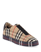 Burberry Markham Archive Check Slip-On Sneakers