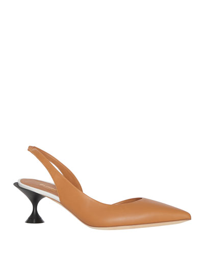 Leticia Pointed-Toe Slingback Pumps