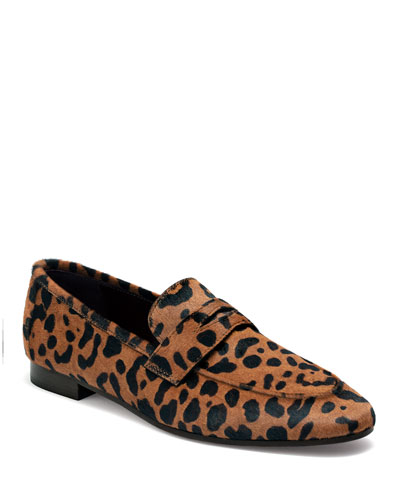 Leopard Calf Hair Loafers