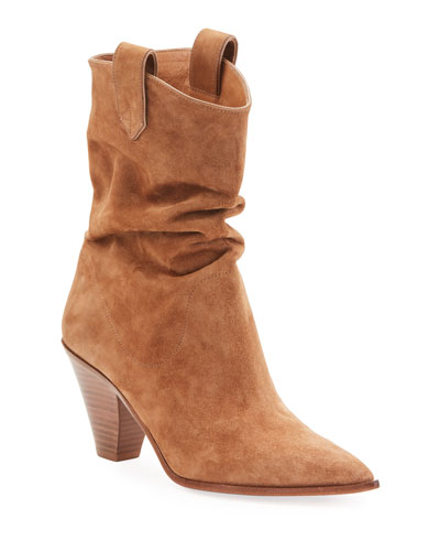 Boogie Cowboy Slouchy Suede Booties