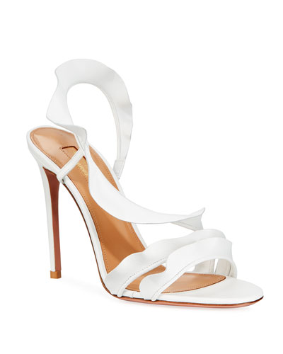Ruffle Napa Strappy Sandals