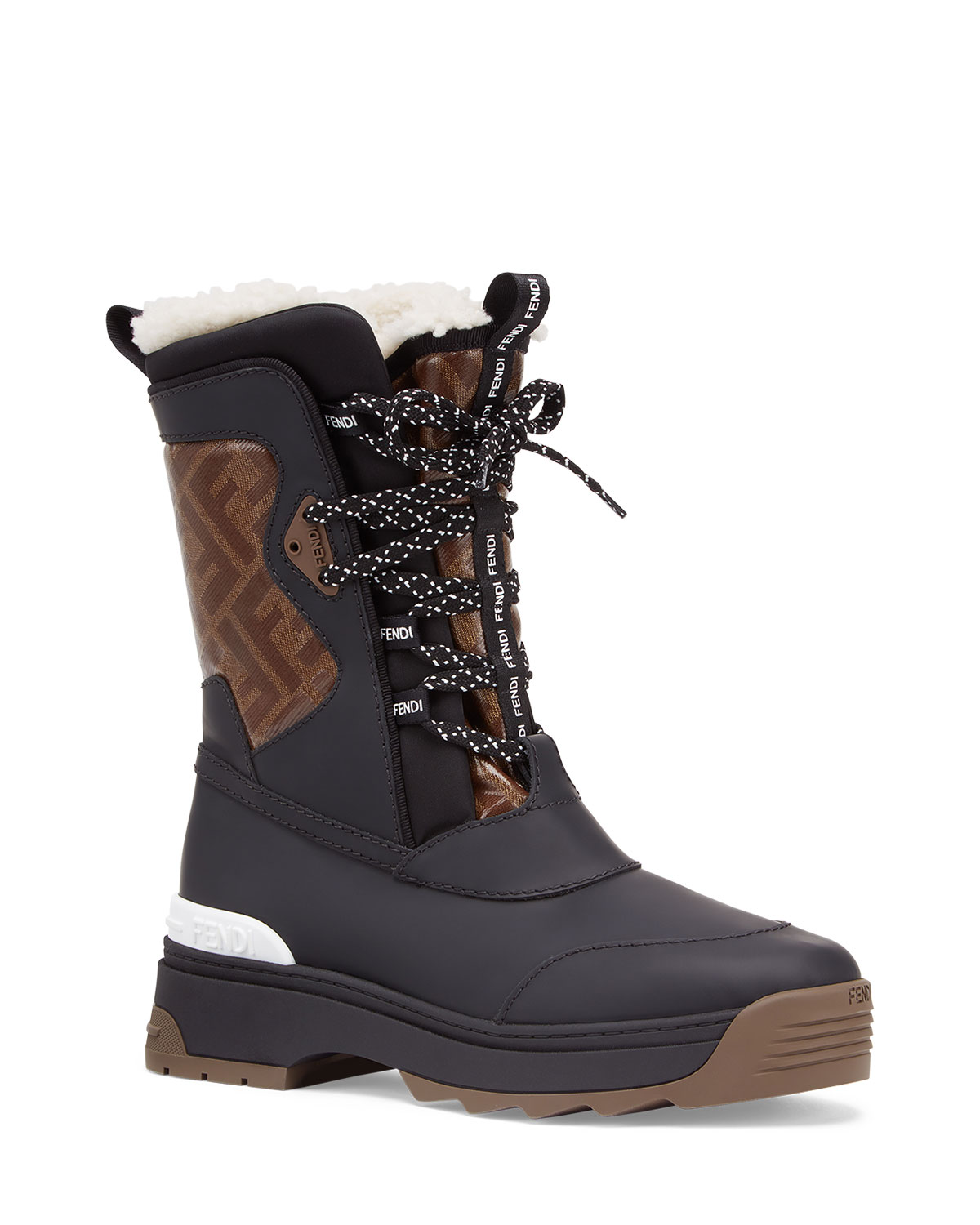 FF Shearling Snow Boots