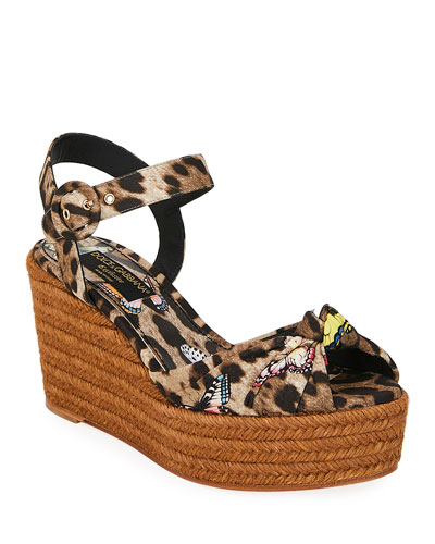 Leopard and Butterfly Espadrilles