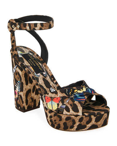 Leopard and Butterfly Sandals