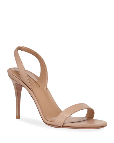So Nude 85mm Calf Sandals