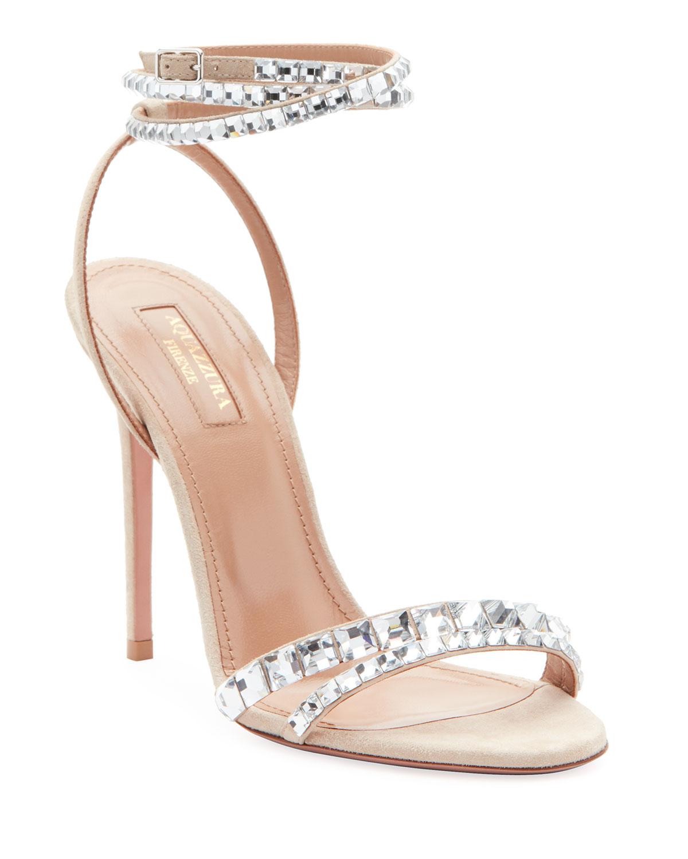 8159fb5c4 AQUAZZURA So Vera Embellished Sandals 9 on COOLS