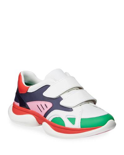 Paris Colorblock Grip-Strap Sneakers
