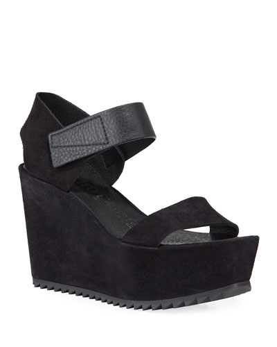 Farrah Wedge Calf Sandals