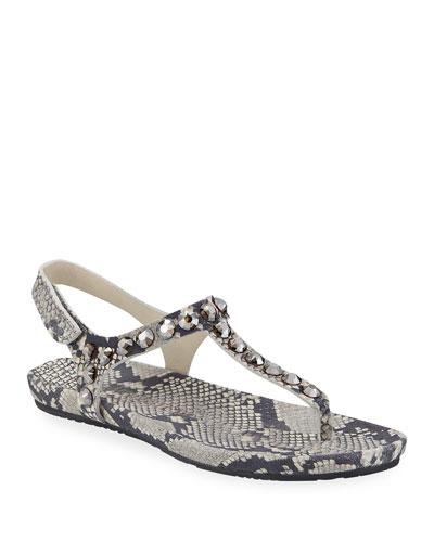 Judith Embellished Thong Sandals