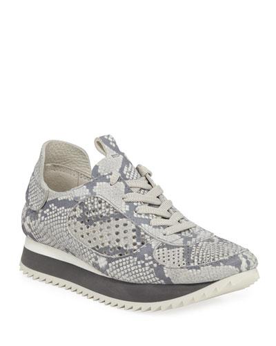 Omega Snake-Print Runner Sneakers