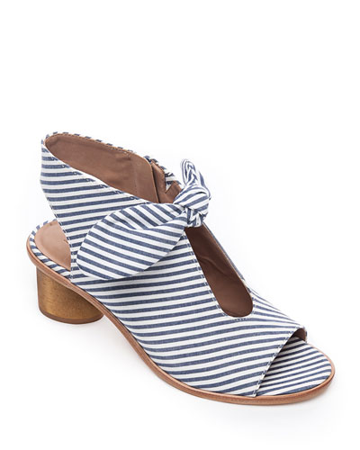 Luna Striped Knotted Sandals