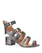 Laurence Dacade Gladiator Metallic Buckle Sandals
