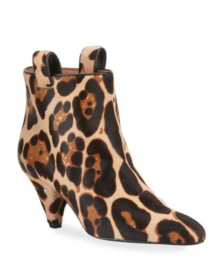 Laurence Dacade Leopard Calf Hair Ankle Booties