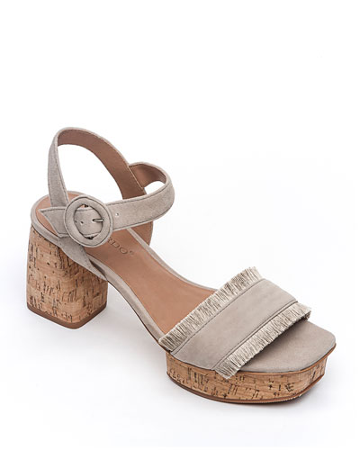 Reagan Cork Suede Sandals