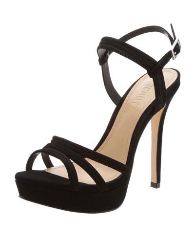 Bogga Strappy Nubuck Platform Sandals