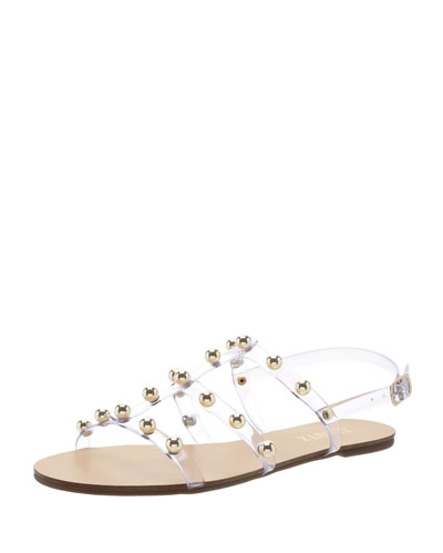 Yarin Studded Flat Jelly Sandals