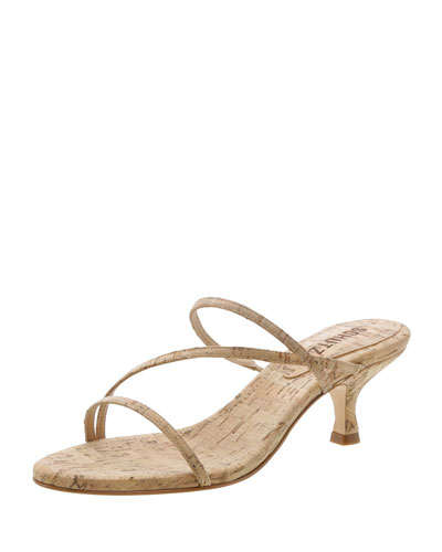 f556b7f3399 Quick Look. Schutz · Evenise Strappy Kitten-Heel Cork Sandals