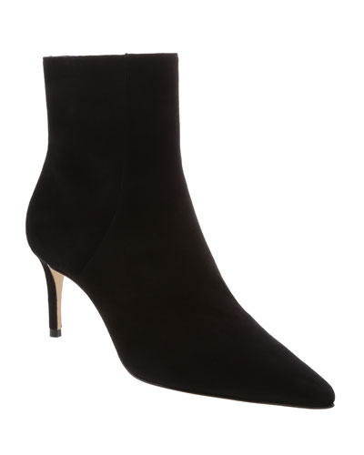 Bette Suede Pointed-Toe Ankle Booties