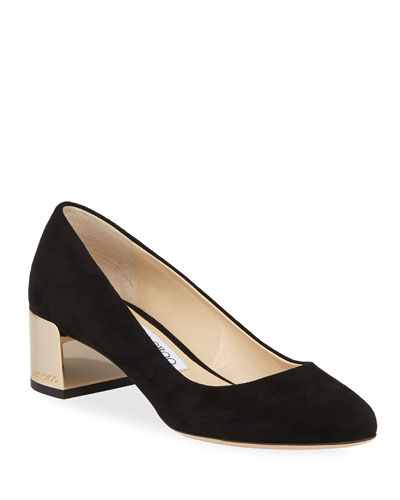 Jessie Suede Slip-On Pumps