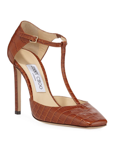 Lexica Mock Crocodile Pumps