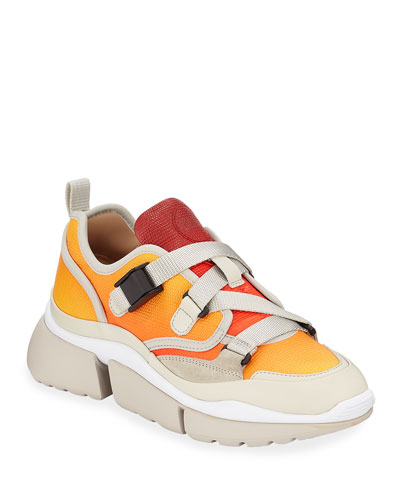 Sonnie Low-Top Ombre Leather Sneakers