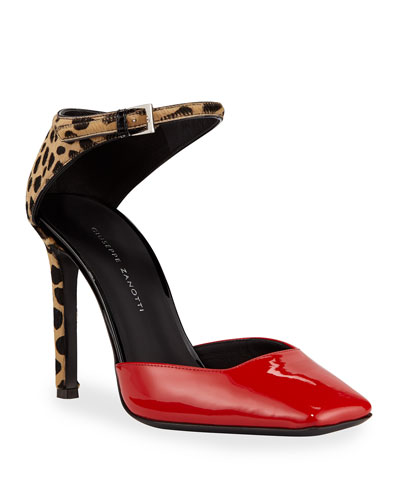 Patent and Leopard Pumps