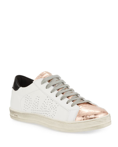E9 John Perforated Sneakers