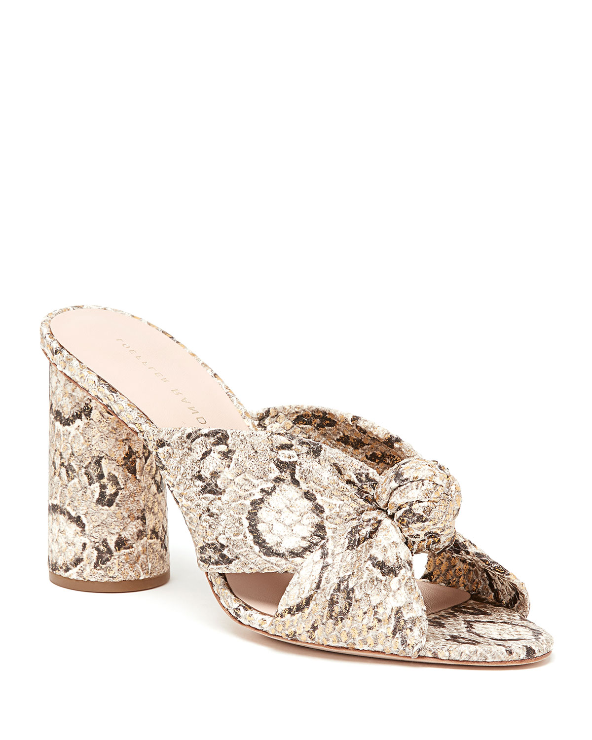 Coco Snake-Print High-Heel Mules