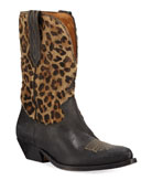 Golden Goose Wish Leopard Star Low Boots