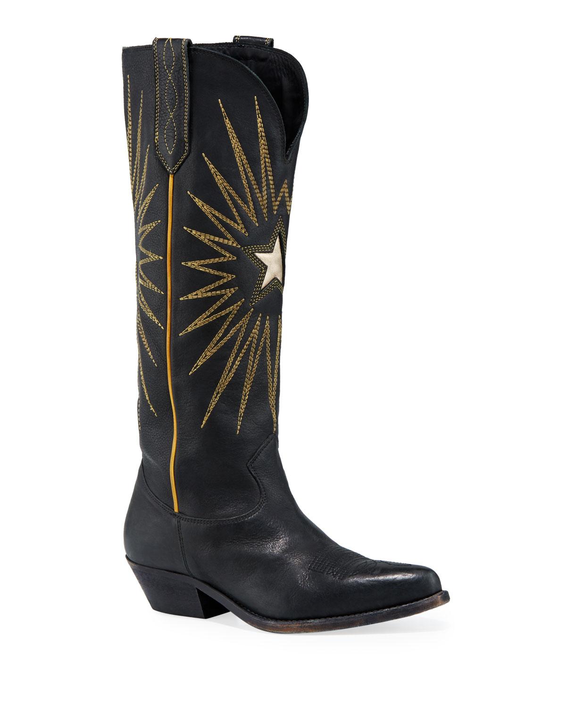 Wish Star Stitched Knee Boots