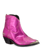 Golden Goose Young Metallic Stitched Booties