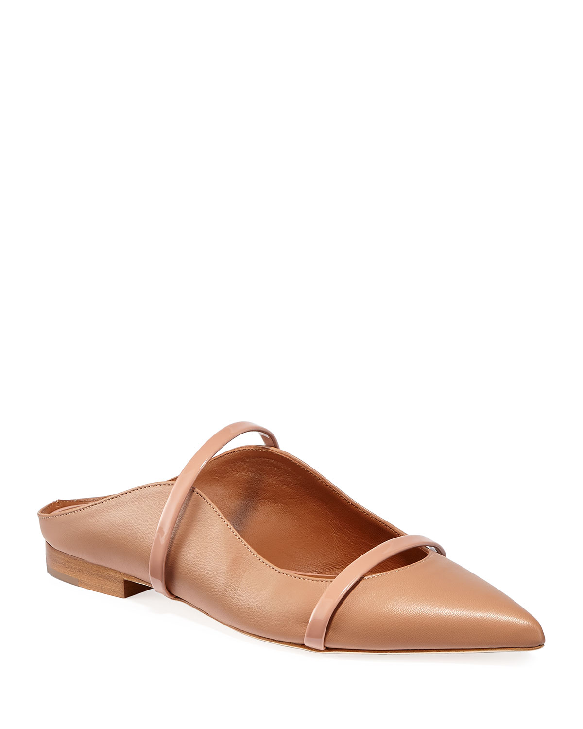 Maureen Flat Napa Leather Mules