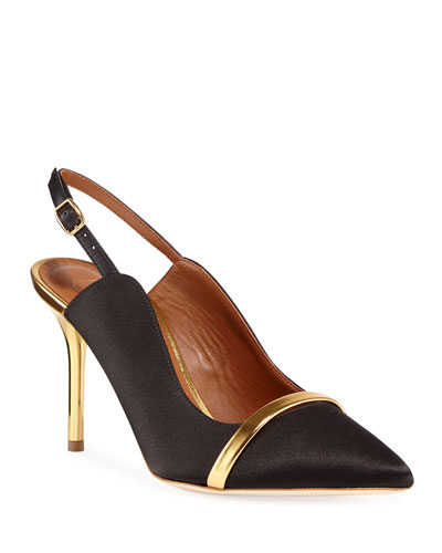 Marion 85mm Satin Slingback Pumps
