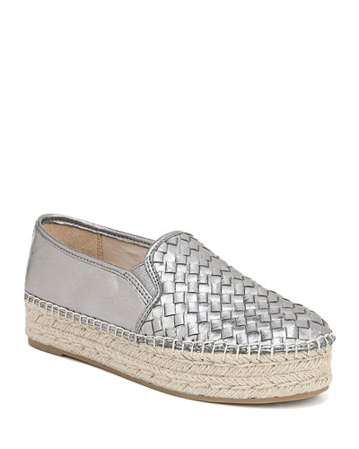 Catherine Woven Metallic Slip-On Espadrilles