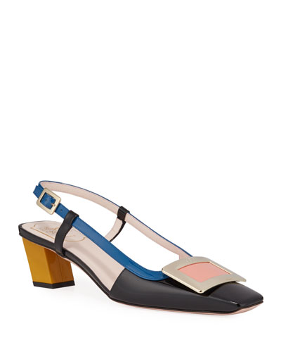 Belle Pilgrim Slingback Pumps, Multi