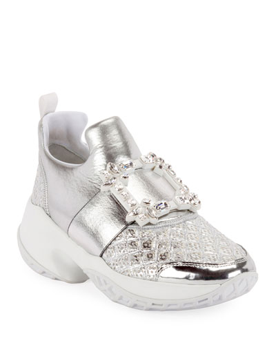 Viv' Run Strass Buckle Sneakers