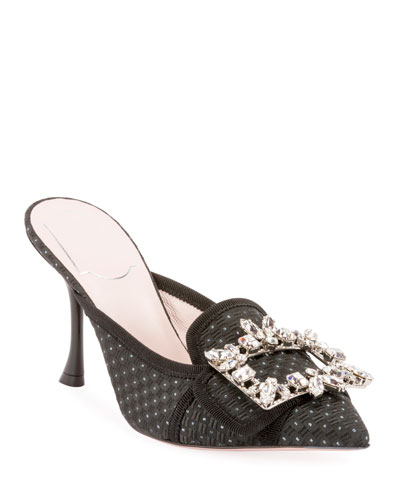 Broche Buckle Slide Mules