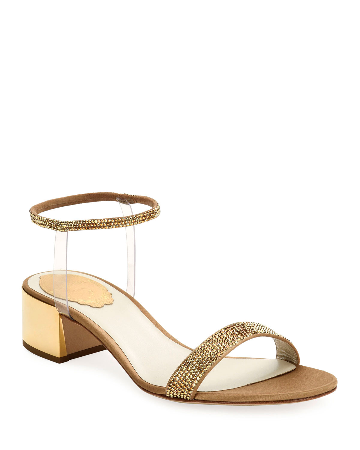 40mm Sandals with See-Through Ankle Wrap