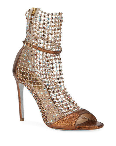 Mesh and Metallic Net Booties