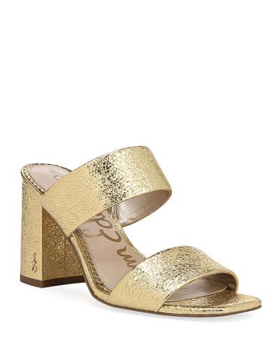 a5473e025 Gold Slide Sandals