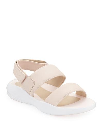 Ella Grand Leather Slingback Sandals, Pink