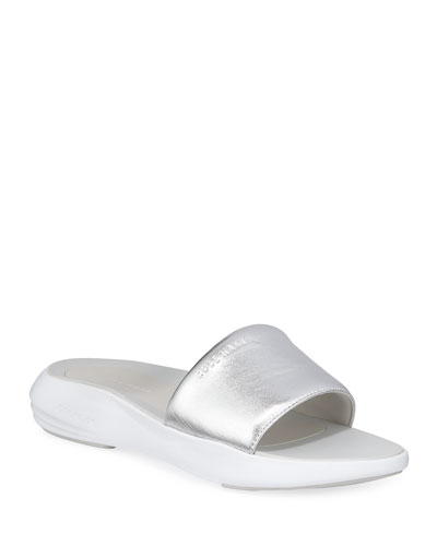 Ella 2.0 Grand Metallic Slide Sandals